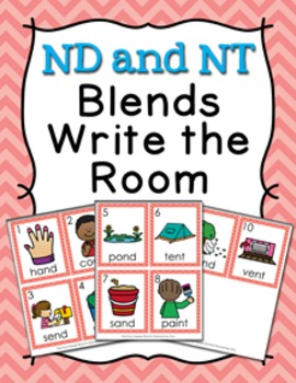 ND and NT Blends Write the Room Activity