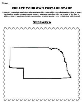 NEBRASKA Create your Own Postage Stamp Worksheet