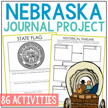 NEBRASKA History Project, Differentiated State Research Journal {EDITABLE}