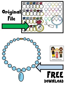 NECKLACE CLIP ART FREEBIE * NECKLACE CLIP ART