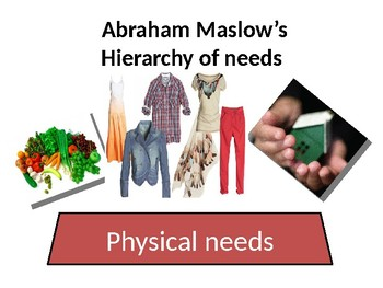 MASLOW'S HIERARCHY OF NEEDS POWERPOINT PRESENTATION