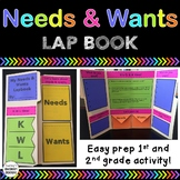 NEEDS and WANTS Lap Book!  Easy Prep Interactive Fun For Grades 1 and 2!
