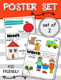 NEEDS and WANTS Posters: Social Studies (Kindergarten & First Grade)