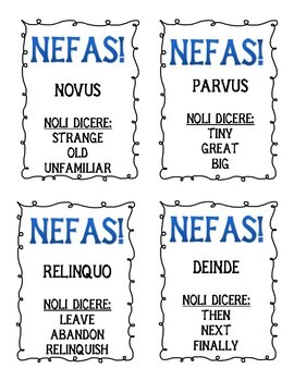 NEFAS: Latin Taboo Game