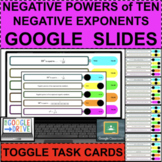 NEGATIVE POWERS OF TEN 10 Exponents TOGGLE TASKS GOOGLE Di