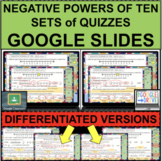 NEGATIVE POWERS OF TEN QUIZZES GOOGLE SLIDES Online Resour