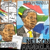 NELSON MANDELA COLLABORATIVE POSTER AND WRITING ACTIVITY
