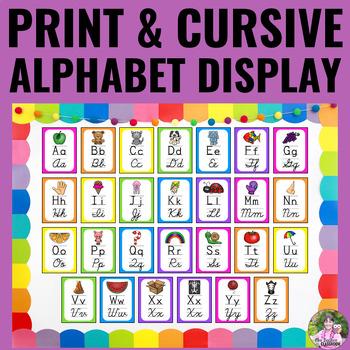 Alphabet Posters - NEON Decor - Print and Script