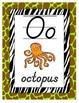 NEON Animal Print Alphabet Poster Set