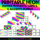 NEON Banner Pennants, Labels, and Accents Package