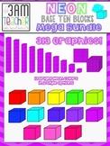 NEON Base Ten Blocks - Clip Art Mega Bundle!!