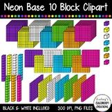 NEON Base Ten Blocks Cube / Place Value Clip Art  ~ 35 Images!