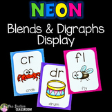 Blends & Digraphs Posters - NEON Decor