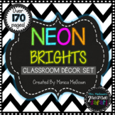 NEON Brights Classroom Decor Set {EDITABLE}