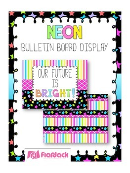 NEON Bulletin Board Set Display