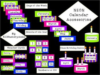 NEON Calendar Accessories Set