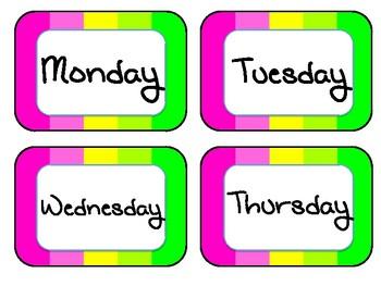 NEON Calendar Set