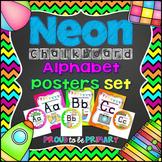 NEON Chalkboard Alphabet