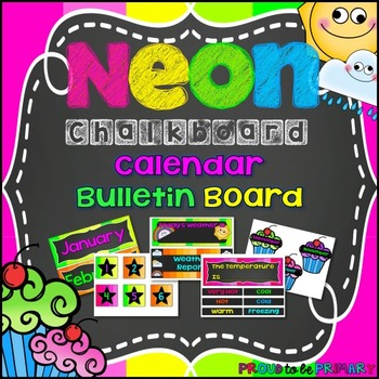 NEON Chalkboard Calendar