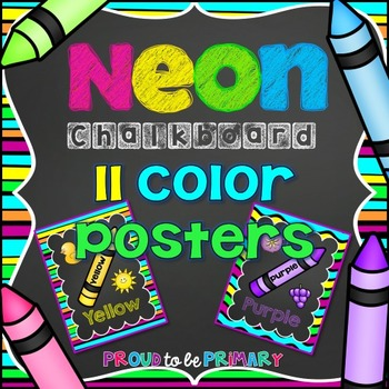 NEON Chalkboard Colors