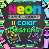 NEON Chalkboard Colors