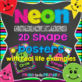 NEON Chalkboard Shapes