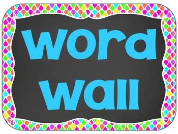 NEON Chalkboard Word Wall Kit EDITABLE