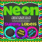 NEON Chalkboard Labels