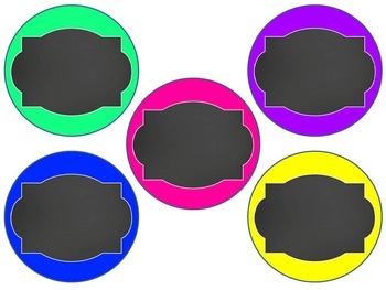 NEON Chalkboard Labels