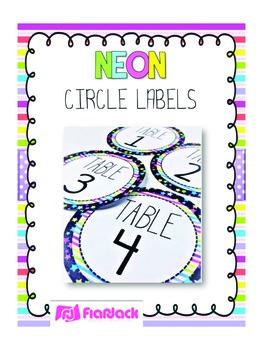 NEON Circle Labels