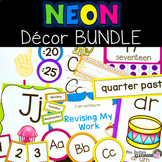NEON Classroom Decor BUNDLE