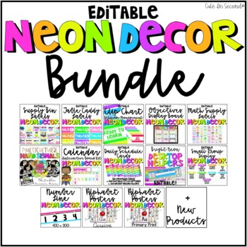 Neon Classroom Decor Bundle By Cute In Second Teachers Pay Teachers