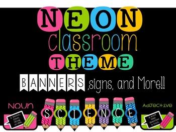 NEON Classroom Theme {Editable}