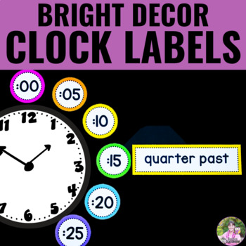 NEON Decor - Clock Display Labels