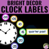 Clock Display Labels - NEON Decor