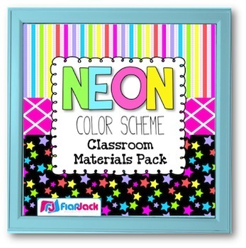 NEON Color Scheme Classroom Decor Materials Pack