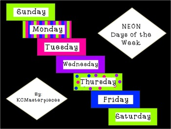NEON Days of the Week