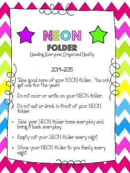 NEON Folder Freebie