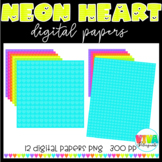 NEON HEARTS DIGITAL PAPERS