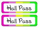NEON Hall Pass w/ BONUS name tags & name plates