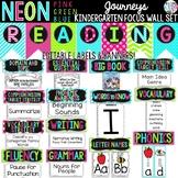 NEON Journeys Kindergarten Focus Wall Set + Editable Labels