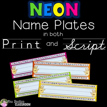 Name Tags/Name Plates - NEON Decor