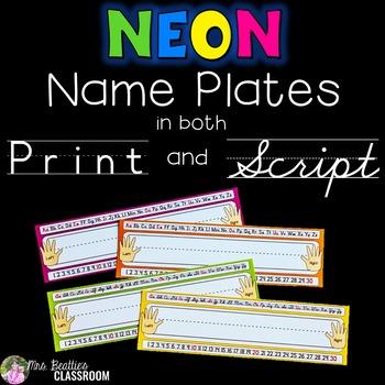 NEON Decor - Name Tags/Name Plates