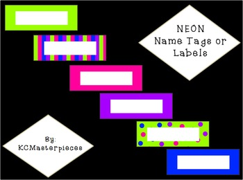 NEON Name Tags or Labels