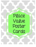NEON Place Value Poster Cards