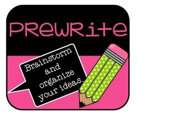 NEON The Writing Process Bulletin Board