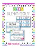 NEON Themed Calendar Display Set
