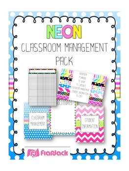 NEON Themed Classroom Management Pack