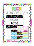 NEON Themed Student Jobs Display