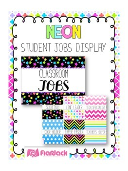 NEON Themed Student Jobs Display